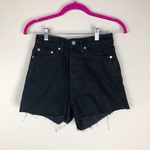 ASOS/ Black raw hem shorts